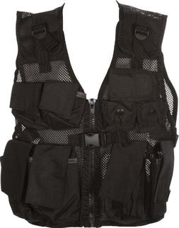 Modern Warrior Junior Black Tactical Vest Fits Children and