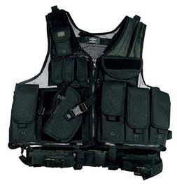 Black Tactical Vest Rt Handed Holster SWAT Paintball Airsoft