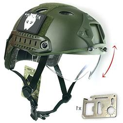 ATAirsoft Breathable Tactical Airsoft Fast PJ Helmet w/ Slid