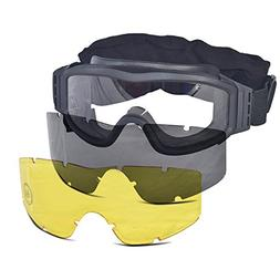 Lancer Tactical CA-203B Safety Airsoft Goggles w/ Interchang