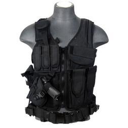 Lancer Tactical CA-310B Cross Draw Vest in Black