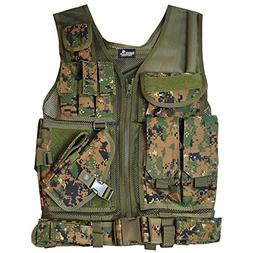 Lancer Tactical CA-310D Cross Draw Airsoft Vest - Digital Ca