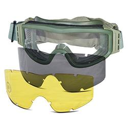 Lancer Tactical CA-203G Safety Airsoft Goggles w/ Interchang