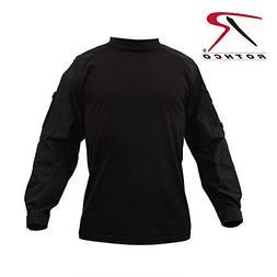 Rothco Combat Shirt, Black, XX-Large