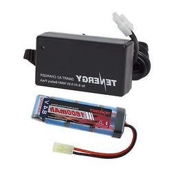 Combo: Tenergy 8.4V 1600mAh Flat NiMH Airsoft Battery Pack+