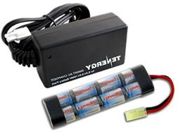 Combo: Tenergy 9.6V 1600mAh Flat NiMH Airsoft Battery Pack +