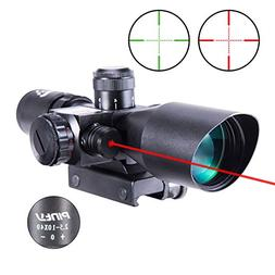 Pinty 2.5-10x40 AOEG Red Green Illuminated Mil-dot Tactical