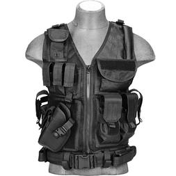 Lancer Tactical Cross Draw Vest w/Mag Pouches Pistol Holster