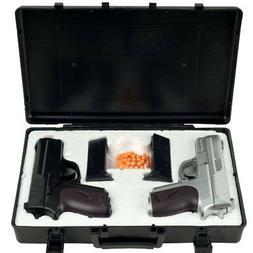 CYMA-TWIN-SPRING-AIRSOFT-DUAL-PISTOL-COMBO-SET-Hand-Gun-w-Ca