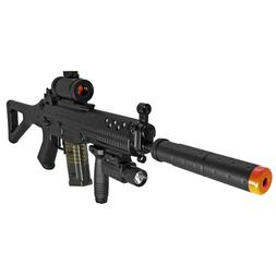 Double Eagle Airsoft Assault Rifle w 3 Firing Modes Provides