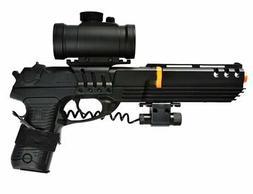Double Eagle KS-91 Spring Airsoft Gun Pistol w Red Dot Scope