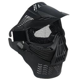 EZ FIT AIRSOFT PAINTBALL FULL FACE MASK METAL MESH Vented He