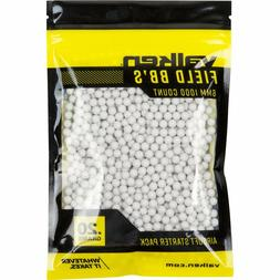 Valken Field Airsoft White BBs 0.20 Grams 1000 Count Bag Sta