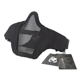 "OneTigris 6"" Foldable Half Face Mesh Mask Military Style Com"