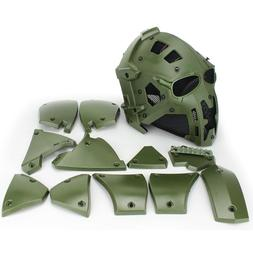 Full Face Hunting Protective Mask Tactical Airsoft Helmet w/
