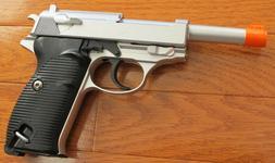 Full Metal Body,& Metal Magazine Walther P38 Airsoft Spring
