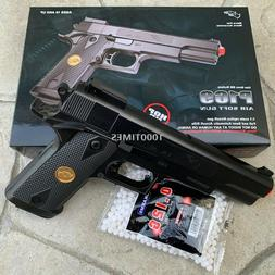 FULL SIZE SPRING AIRSOFT GUN PISTOL WITH FREE 1000 BB'S 1911