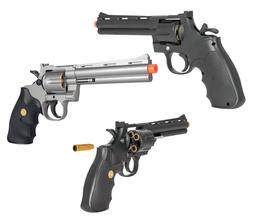 Ukarms Full Size Spring Airsoft Revolver Pistol Silver Cylin