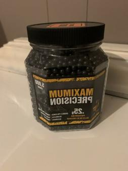 GameFace 5000 Count Maximum Precision Black Airsoft BBs, 0.2