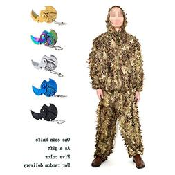 Ghillie Suits, Outdoor 3D Snake Design Camo Suit Hunting Woo