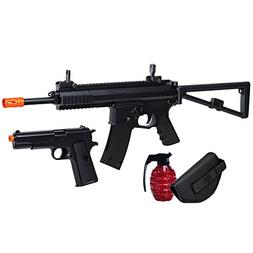 Soft Air Colt M4A1 RIS Spring Rifle and Pistol On-Duty Kit