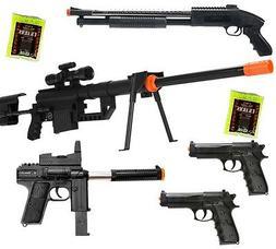 Dark Ops Airsoft *LOT OF 5* Airsoft Guns SNIPER RIFLE & Shot