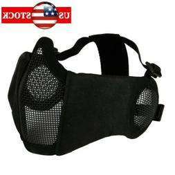 Half Face Mask Ear Protective forTactical CS Game Airsoft Me