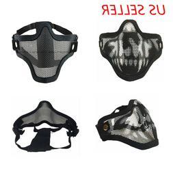 Halloween Mesh Protective SKULL Mask Half Face Tactical Airs
