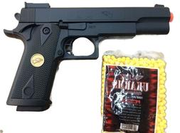 BLACK SPRING AIRSOFT GUN PISTOL FULL SIZE WITH FREE BB'S 100