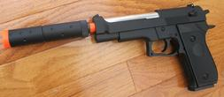 Heavy Weight Beretta M9 Style Airsoft Spring Pistol Metal In