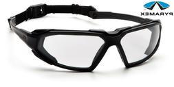 Pyramex Highlander Safety Eyewear, Black Frame/Clear Anti-Fo