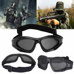 Hunting Airsoft Tactical Eyes Protection Metal Mesh Pinhole