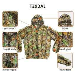 Hunting Ghillie Suit 3D Bionic Leafy Camo Clothing for Hunti
