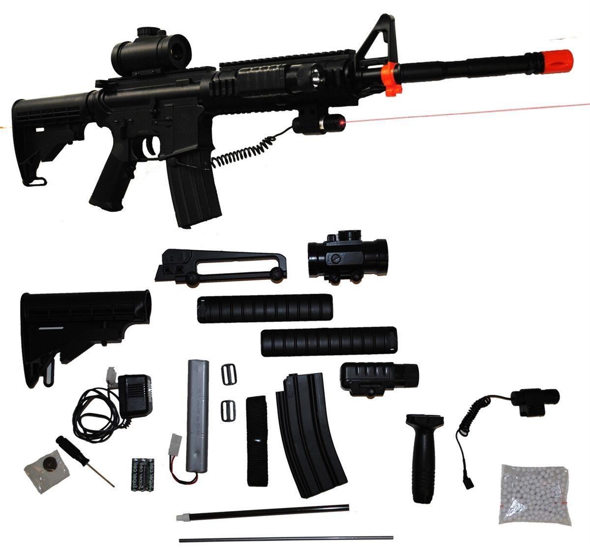 256-in-1 M83 Clone Electric Airsoft Rifle AEG Gun M4 M16 - T