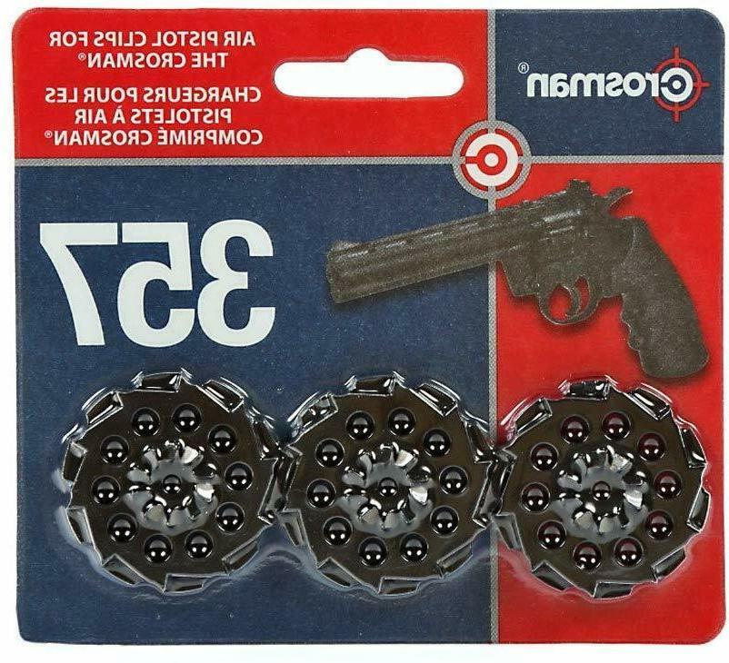 Crosman 10-shot Speedloader Clip 3-pack For Model Vigilante