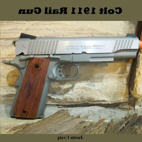 Colt 1911 Full Metal Blowback Co2 Airsoft Gun Pistol Brown H
