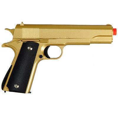 310 FPS G13G GOLD METAL GUN MILITARY M1911 SPRING AIRSOFT PI