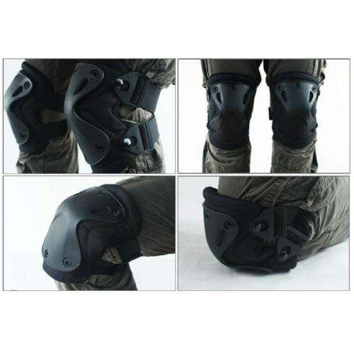 5Color Airsoft Tactical Knee & Elbow Pads Set Gear  Hunting