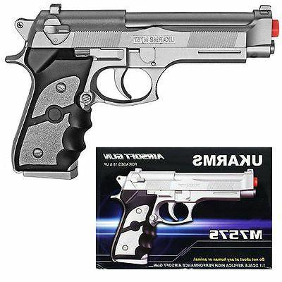 """UK 8.5"""" Plastic Pistol Gun w/BB M757S Beretta"""