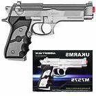 "UK ARMS 8.5"" Silver Plastic Airsoft Pistol Handgun Gun w/BB"