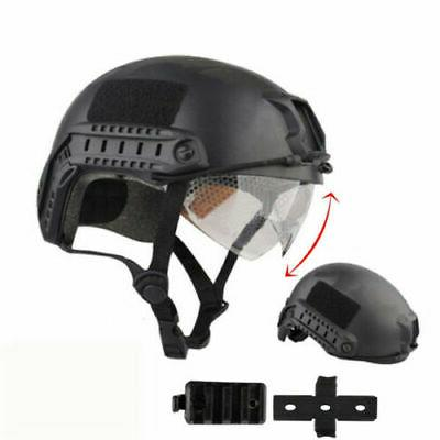 Military Tactical Airsoft SWAT Protective FAST Helmet w/ Goggle