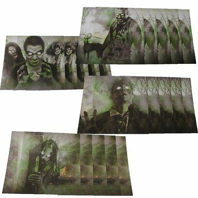 PACK OF 20 - BLACK OPS vs ZOMBIES Airsoft Gun & BB Paper Tar