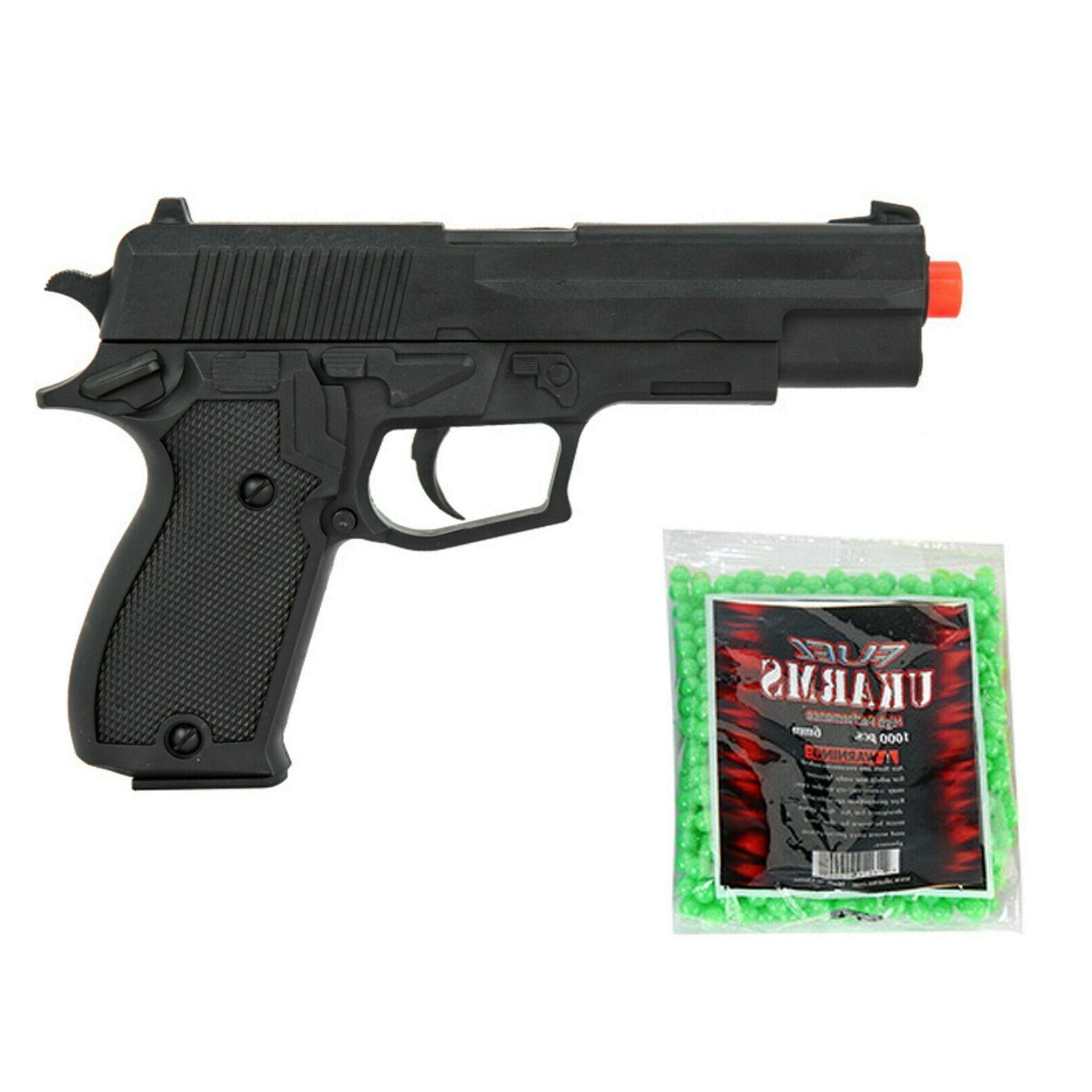 airsoft hand gun lightweight spring pistol w