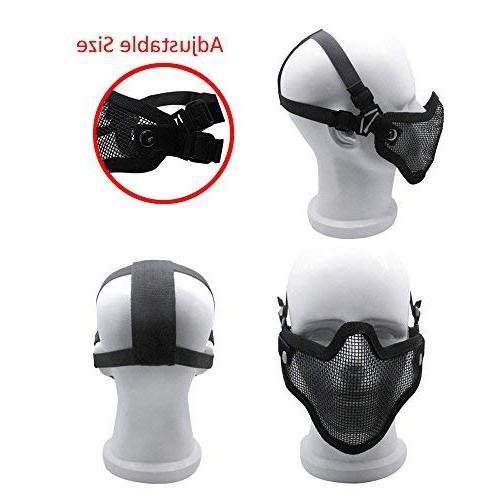 Infityle Masks- Half Metal Face and Goggles Paintball,