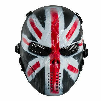 airsoft paintball tactical full face mask skull