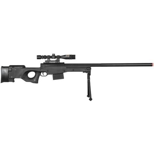 250 FPS AIRSOFT TACTICAL SPRING SNIPER RIFLE GUN w/ LASER SC