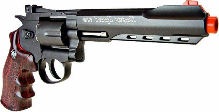 airsoft wingun 6 metal magnum revolver gas