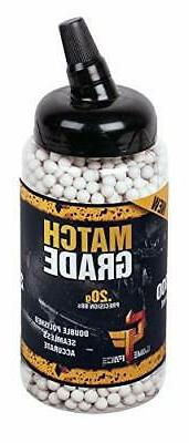 Crosman 6mm biodegradable airsoft BBs, 0.20g, 2000 rds, whit