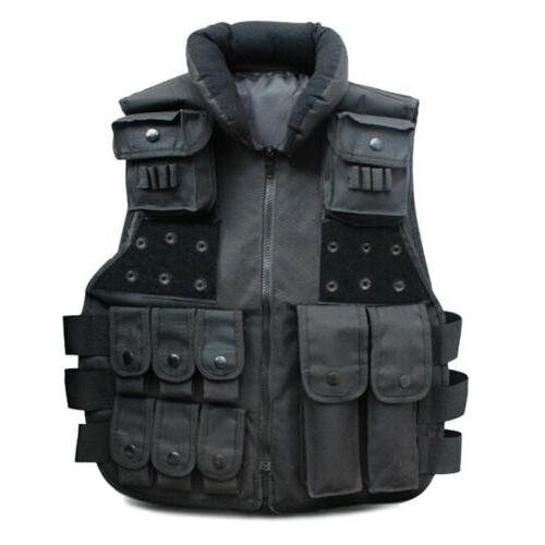 Tactical Vest Military SWAT Police Airsoft Hunting Combat As