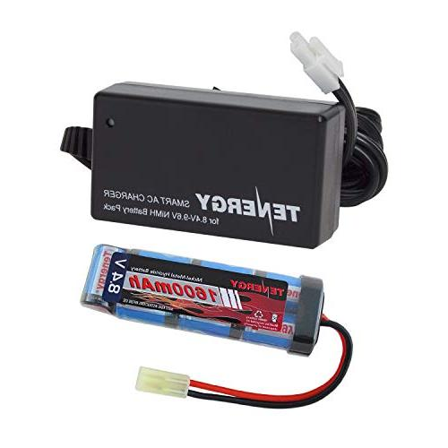 Tenergy Airsoft Battery 8.4V 1600mAh NiMH Flat Battery Pack